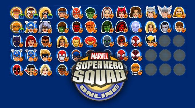 Alle Super-Helden vom SHSO Browserspiel