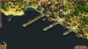 Hafen in der Wirtschaftssimulation