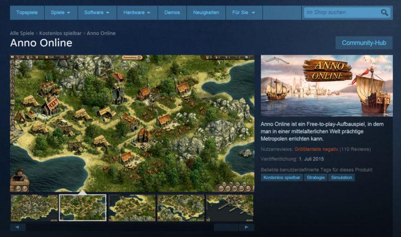Das Strategie-Game Anno Online gibt es nun auf Steamplay