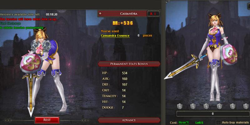 Heldin im Online-ARPG