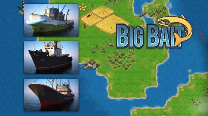 Big Bait, das Spiel mit den Schiffen