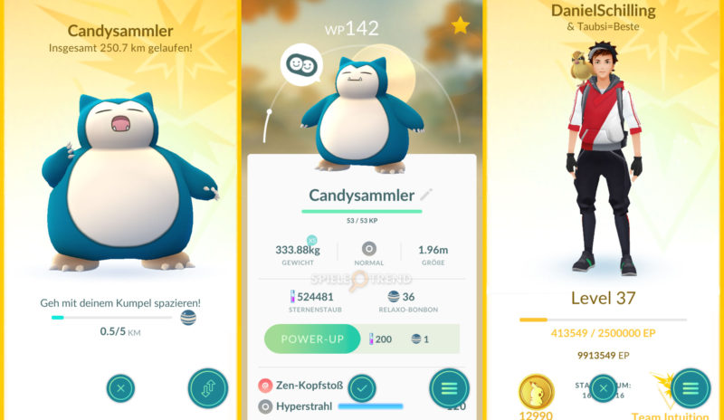 Buddy/Kumpel Kilometer in PokémonGO