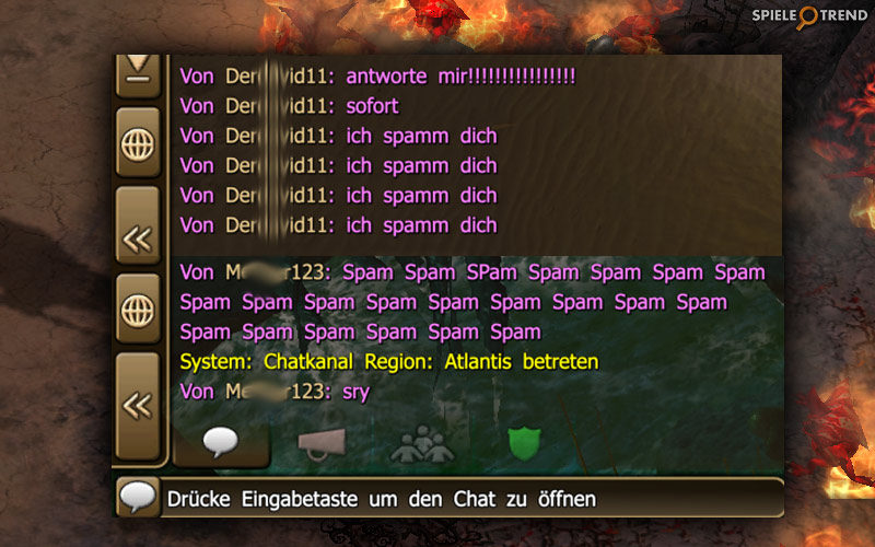 Spam im MMO Chat