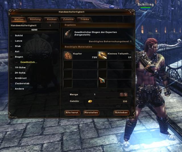 Craften und Sammeln im Archlord 2 Rollenspiel