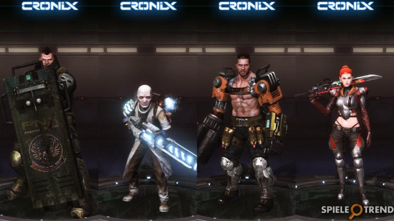 CroNix Online Characters Liste