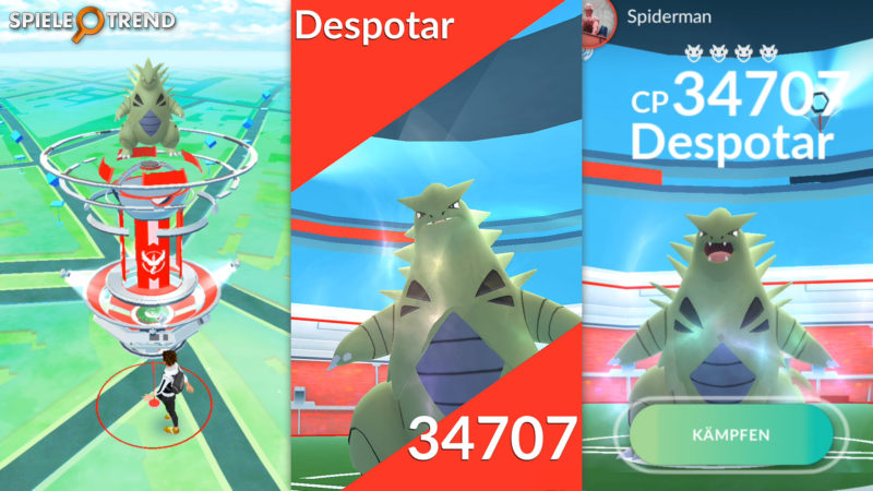 Despotar im Raid von Pokémon GO