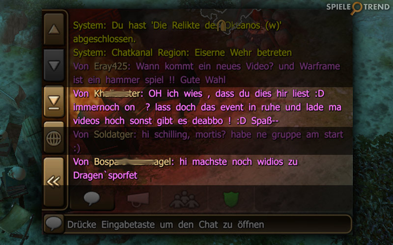 Chat über Dragon's Prophet