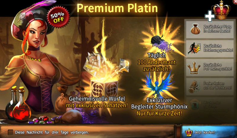 Drakensang Online Premium Platin Accounts (R154)