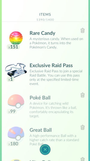 Pokémon GO EX Raidpass