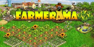 Farmerama unterwegs am Handy spielen
