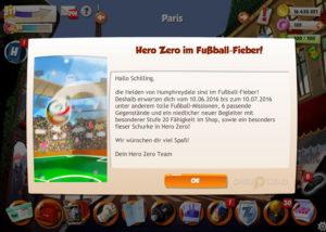 Fußball-Event im HeroZeroGame