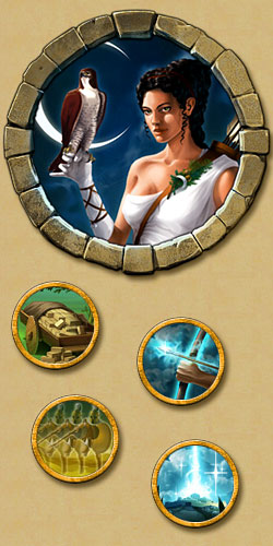 Göttin Artemis auf der Heldenwelt Achilles im Browsergame Grepolis