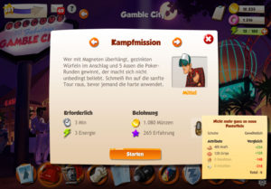 Hero Zero Missionen in der Gamble City
