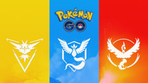 Team Instinct, Mystic & Valor in Pokémon GO