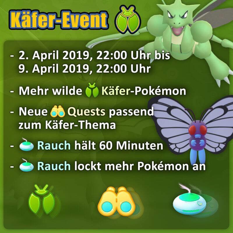 Käfer Event 2019 in Pokémon GO