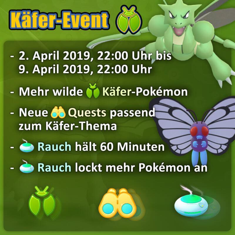 Käfer Event 2019 in Pokémon GO