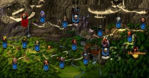 Die Weltkarte vom kostenlosen Onlinespiel KingsRoad
