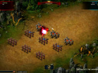 Der Kampf im Aufbau-RPG-Spiel