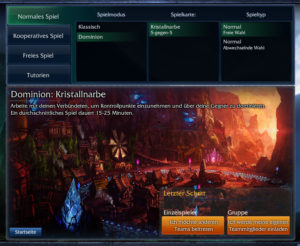 League of Legends: Dominion - Kristallnarbe 5v5-Map