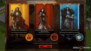 Legends of Honor Fraktionen
