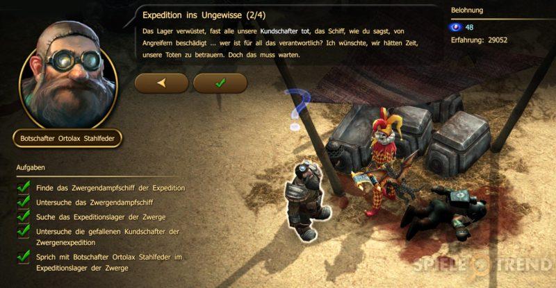 Viele neue Quests (insgesamt 150)