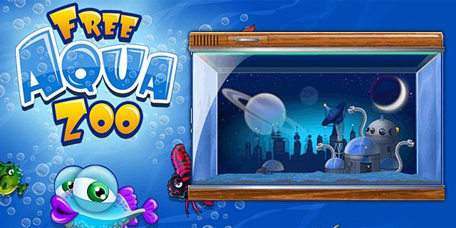 Neues Aquarium Hintergrundbild für die Robofische vom FreeAquaZoo Browsergame