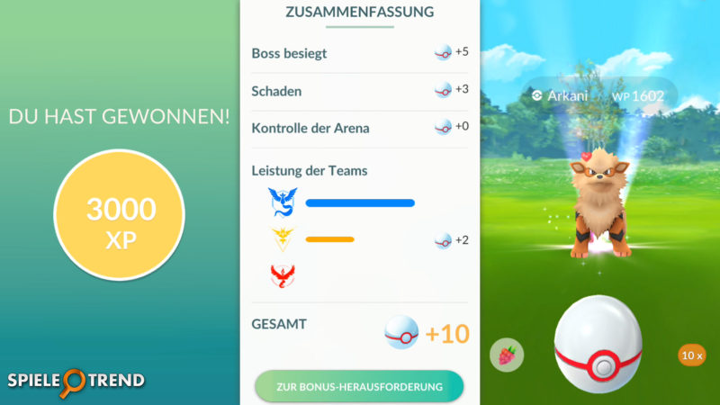 Premierbälle bei Pokémon GO Raid