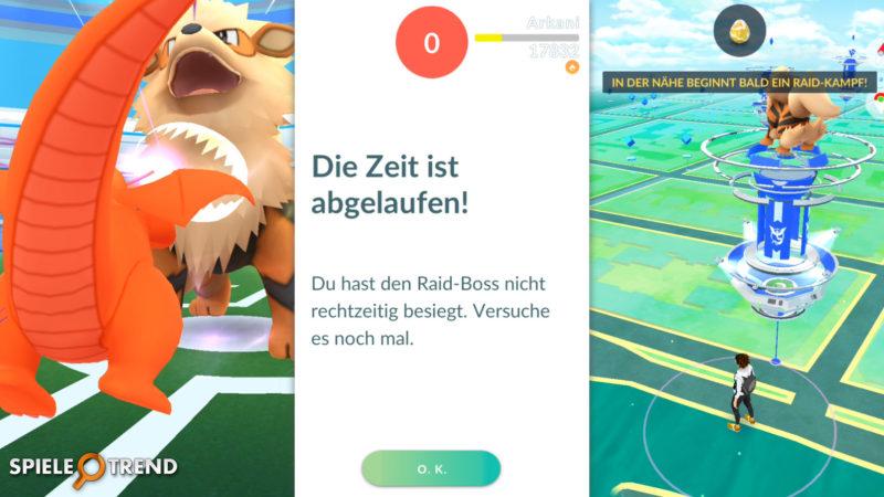 Zeit in Pokémon GO abgelaufen