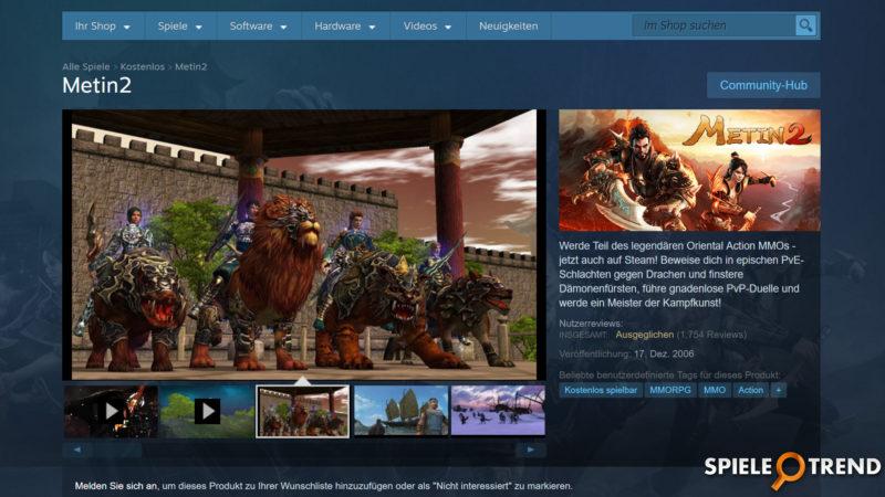 Metin2 über Steam spielen