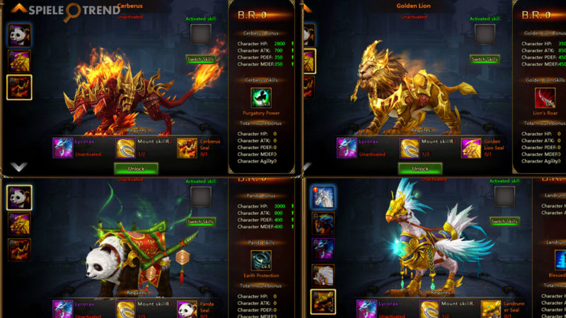Mounts in League of Angels II