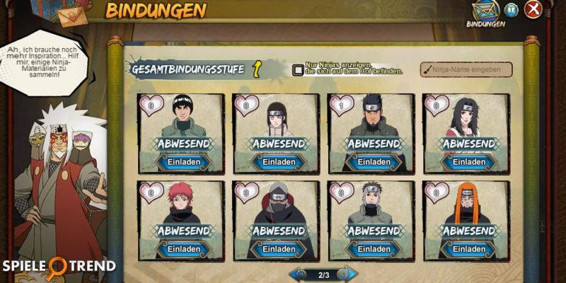 Naruto Online Bindungen 3.0