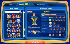 Neue Helden freispielen, Super Hero Squad Online Browserspiel