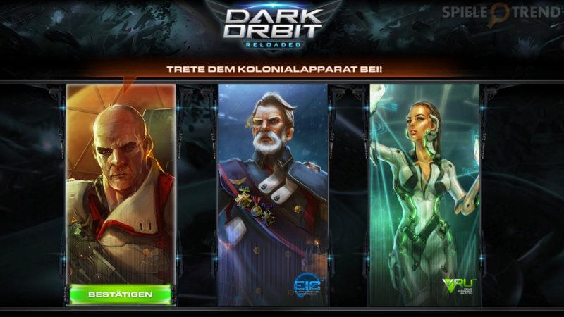 Organisationen / Fraktionen in DarkOrbit (DO)