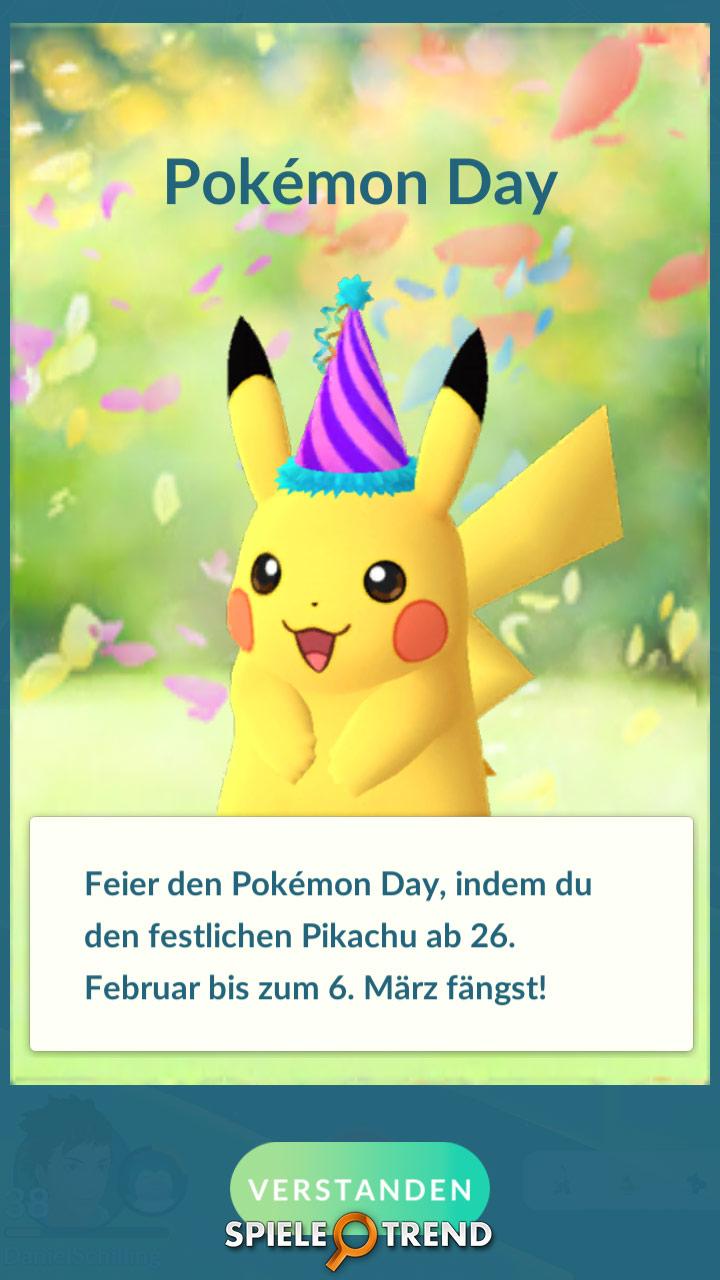 Partyhut-Pikachu in Pokémon GO