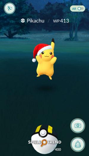 Pikachu Pokémon GO Weihnachten 2016/2017