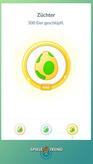 Viele Eier in Pokémon GO ausbrüten