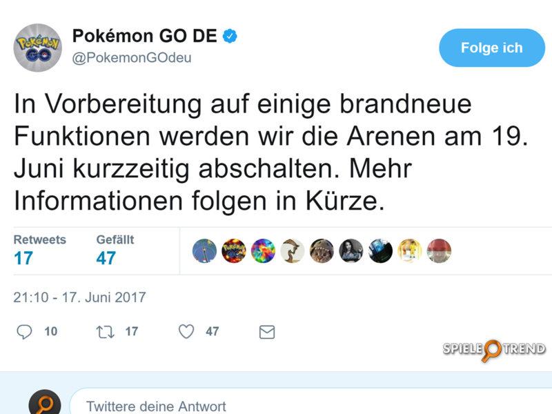 Pokémon GO Arena Deaktivierung