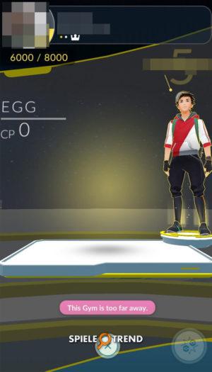 Pokémon GO Ei in Arena
