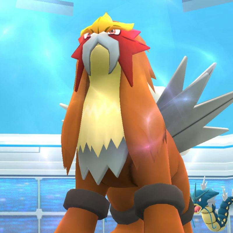 Entei im Pokémon GO Raid