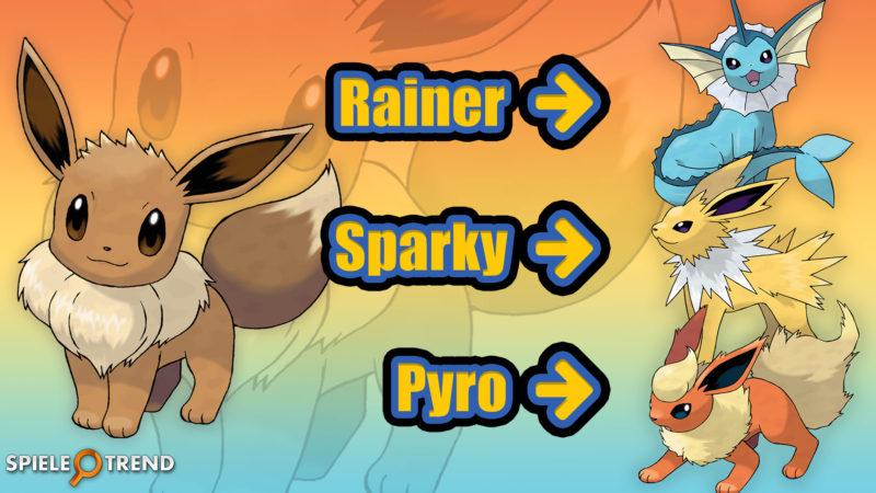 Pokémon GO Trick für Aquana, Blitza & Flamara