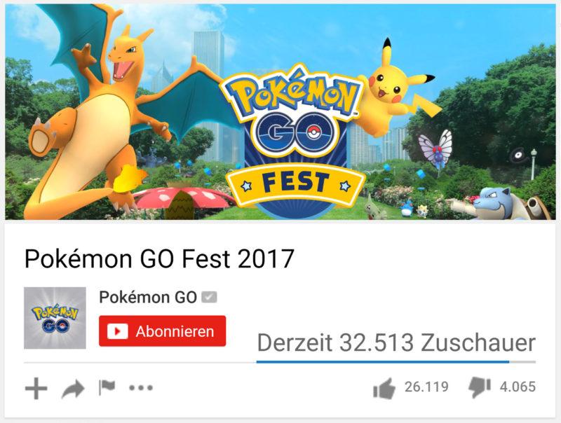 GO Fest Livestream Zuschauer