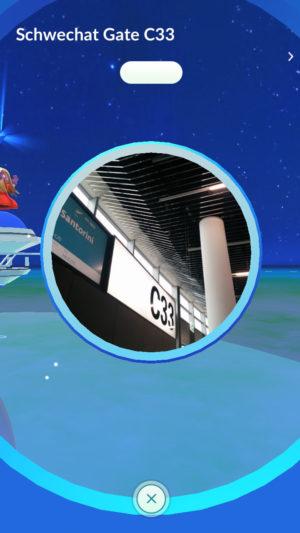 Gate C33 in Pokémon GO