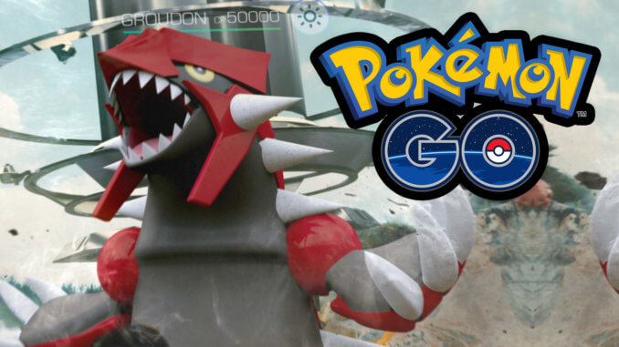Groudon in Pokémon GO