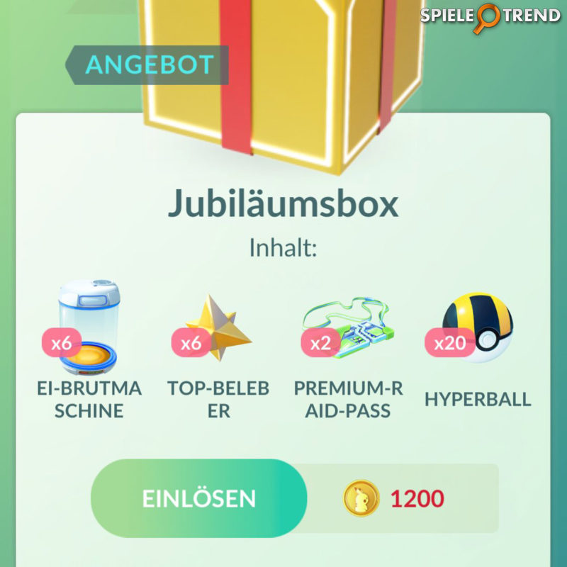 Jubiläumsbox Inhalt