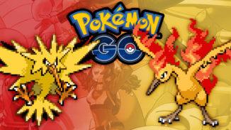 Zapdos und Lavados in Pokémon GO