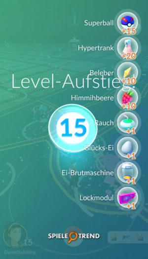 Levelanstieg in Pokémon GO