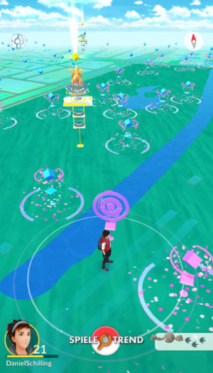 Heftige Lockmodul Party in Pokémon GO