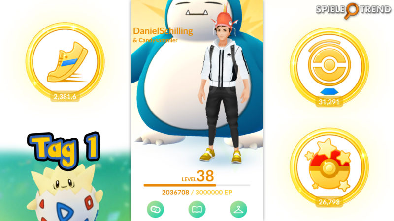 Pokémon GO Oster-Event Ei Festival Tag 1
