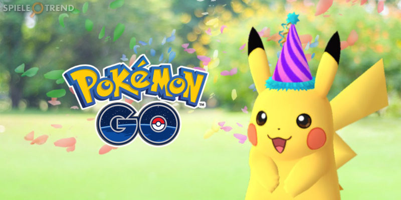 Pokémon GO Pikachu Geburtstags Party Event