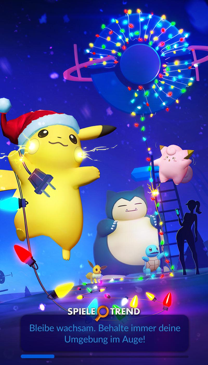 Pokémon GO: Pikachu mit Weihnachtsmütze
